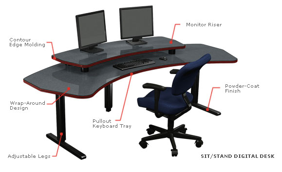 Charmant ... General Office Technical Furniture Solutions. Ergonomic Media  Workstations Enhance The Work Space Environment While Maximizing Both  Operator Performance ...