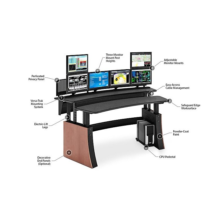 Impulse Dual Sit Stand Console R Amp D Data Products